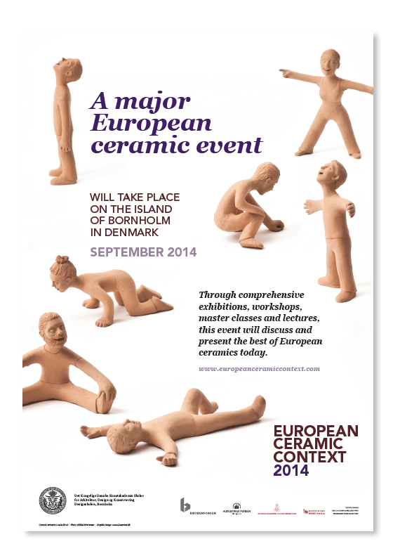 A2 poster ECC 2014 with clay figures by Danish artist Louise Birch © lowereast.dk
