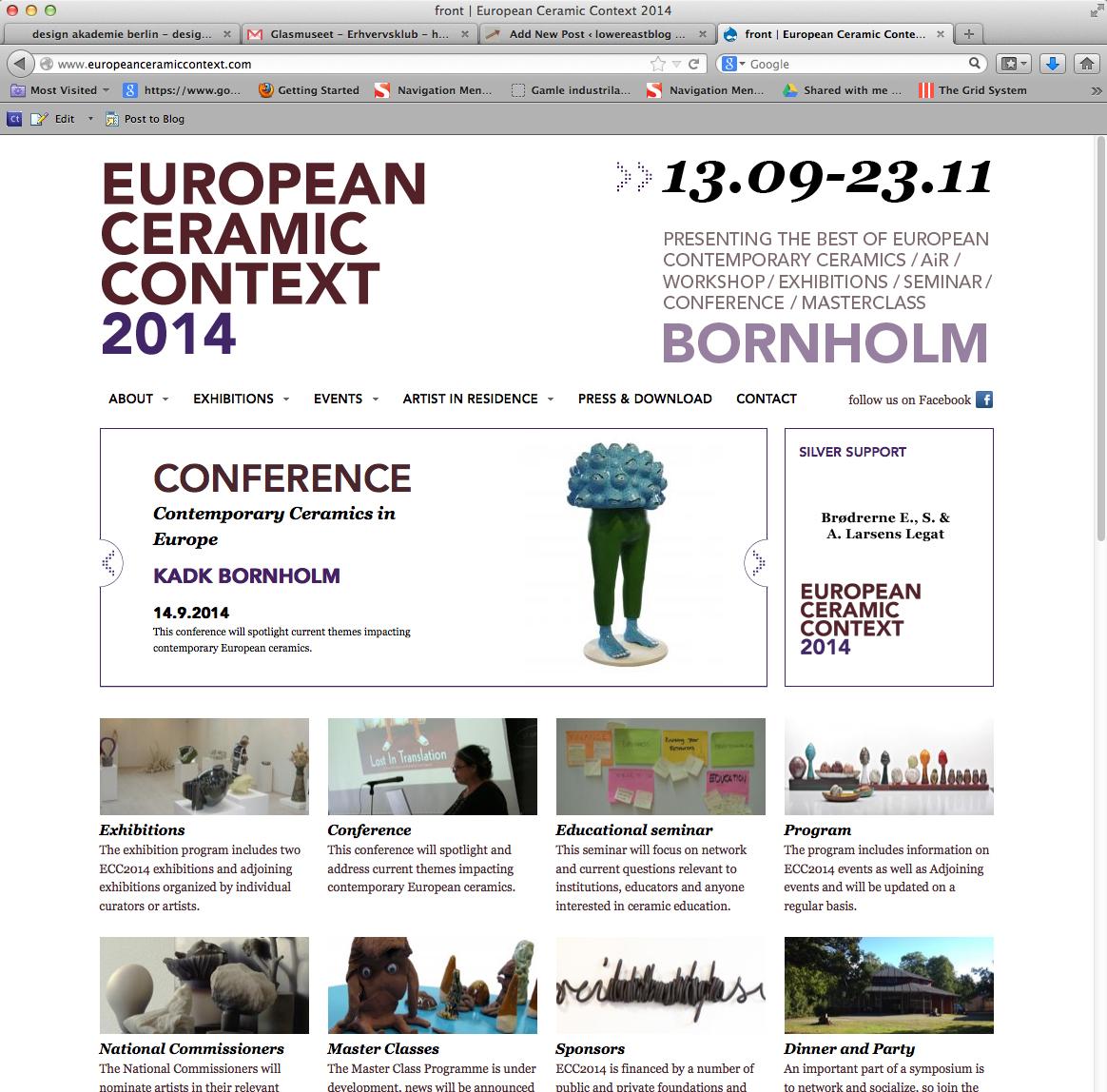 Website ECC 2014 © lowereast.dk