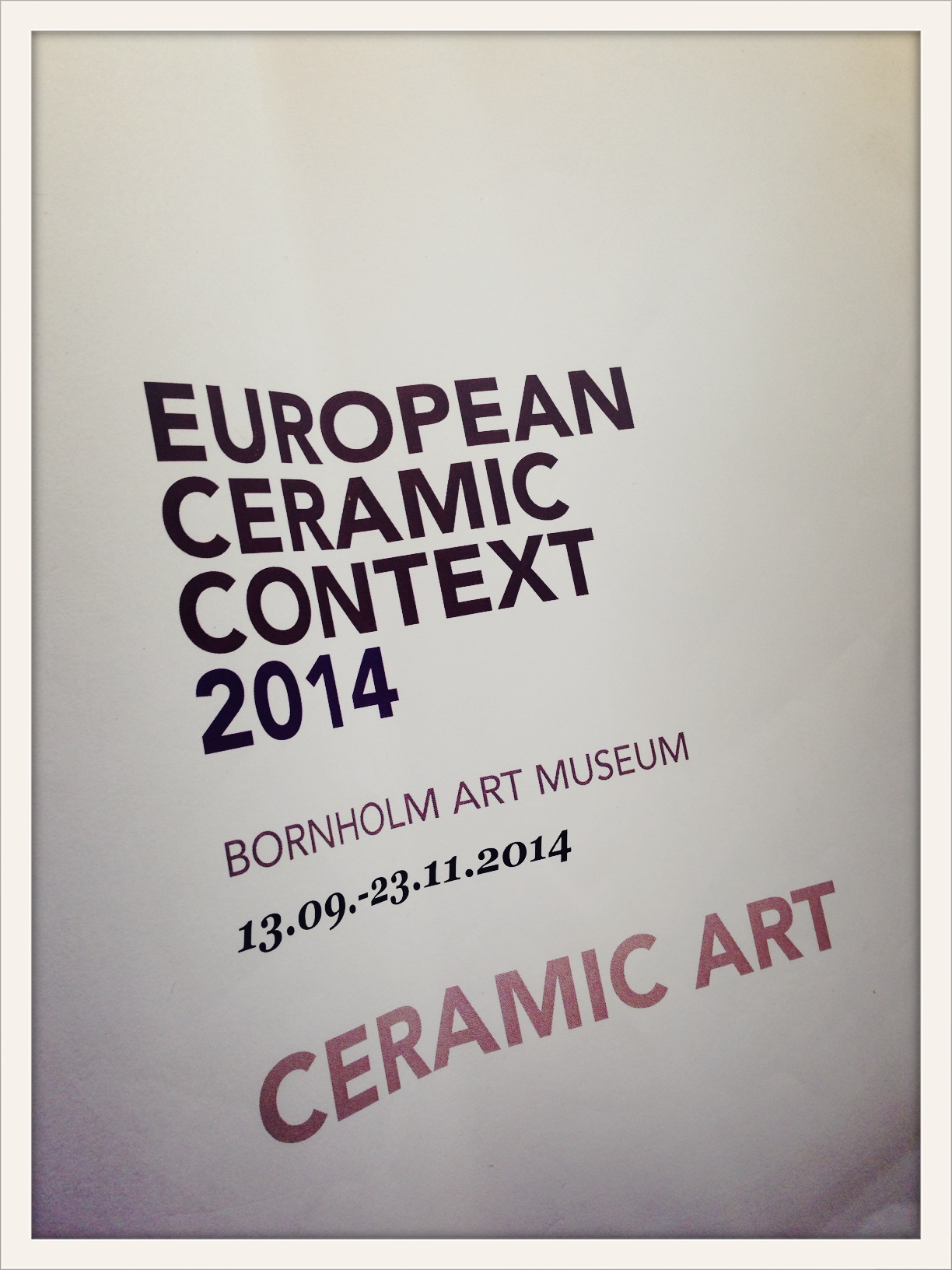 European Ceramic Context 2014. The catalogue  ©lowereast
