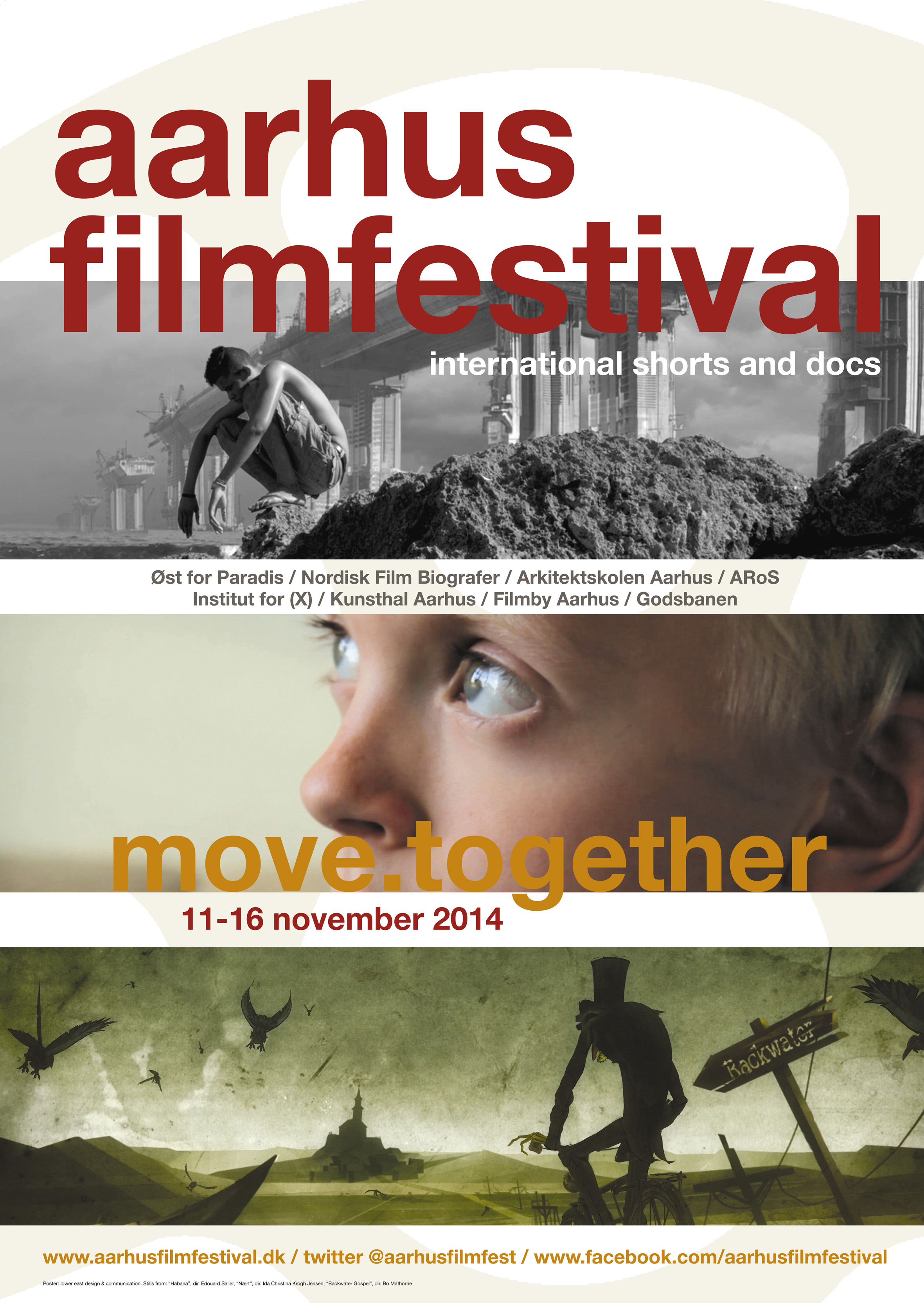Poster Aarhus Filmfestival 2014, design Lower East