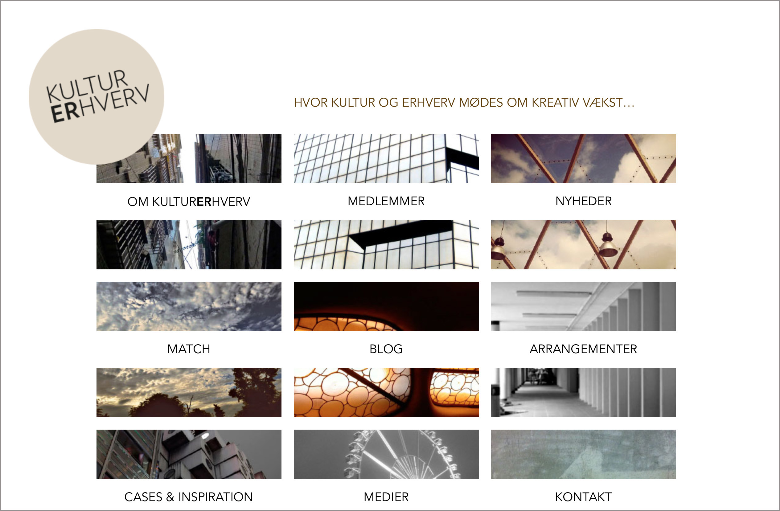 website kulturerhverv.nu – design by lower east