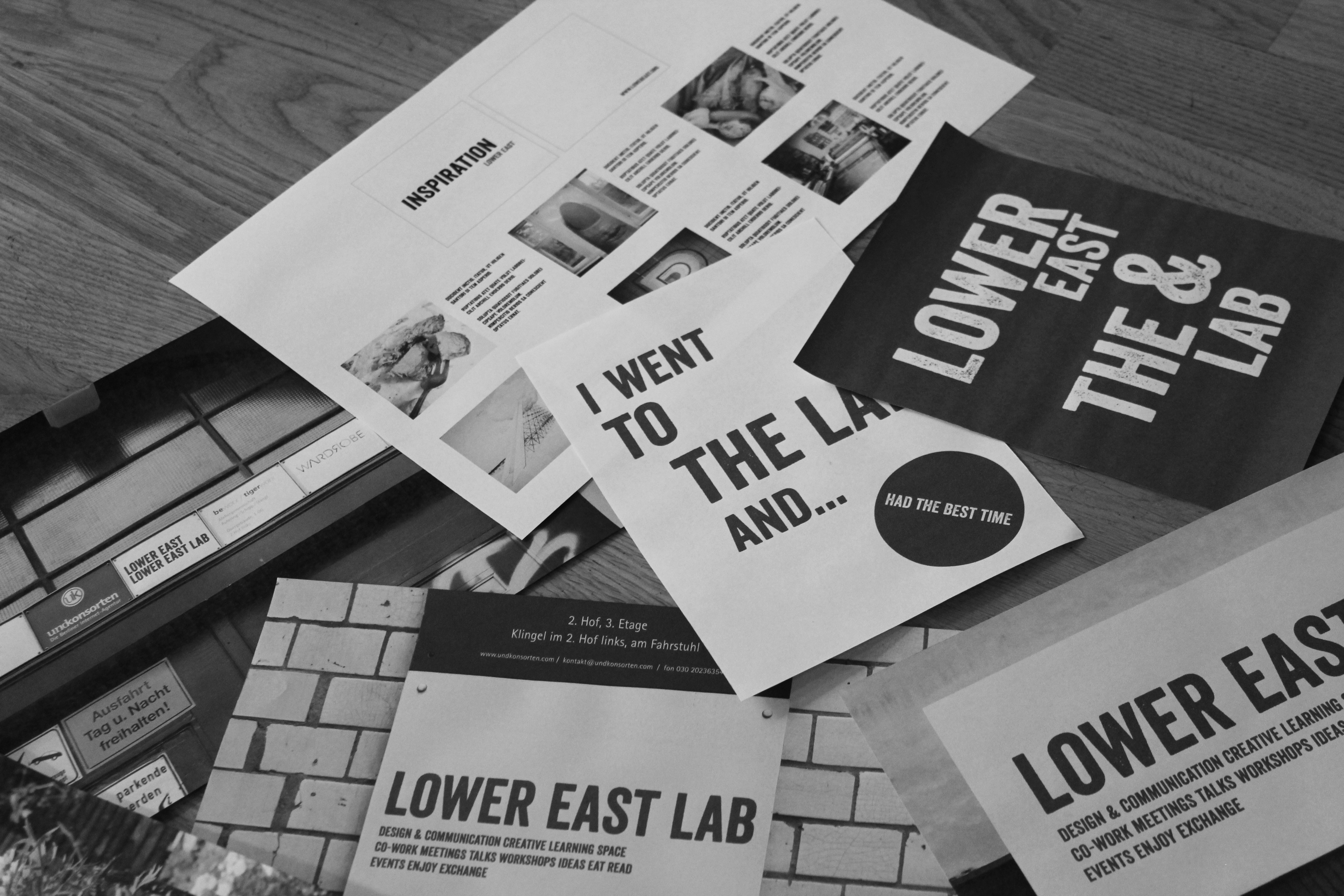 Mockups of the products – signs, posters, inspiration book, billboard
