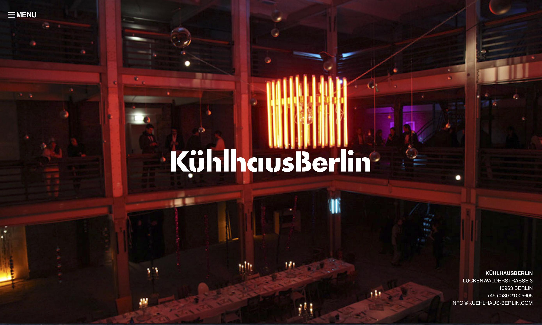 Frontpage Kühlhaus Berlin website
