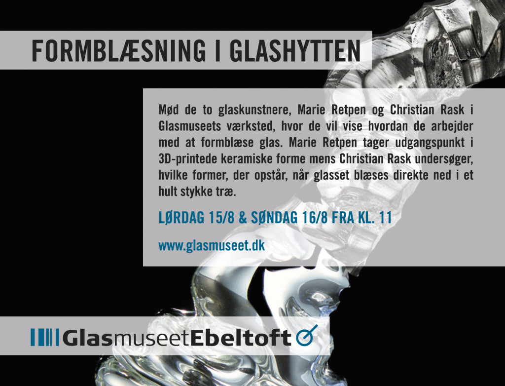 Add for Glasmuseet Ebeltoft, design Lower East