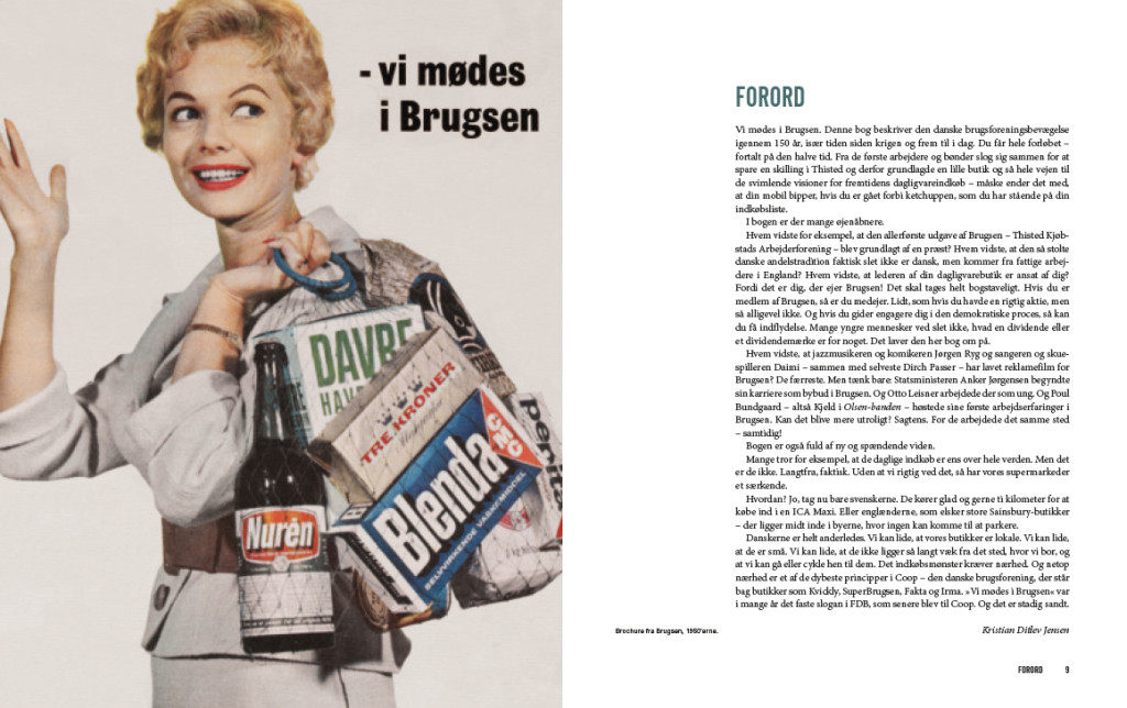 "Book design. ""Vi mødes i Brugsen"" ©lowereast"